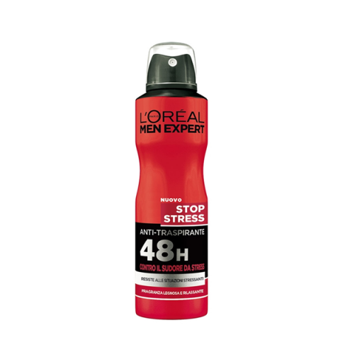L'ORÉAL PARIS                            - Men Expert - Stop Stress Deodorante Anti-Traspirante 48H Spray - 043020001