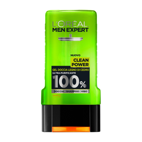 L'ORÉAL PARIS                            - Men Expert - Clean Power Gel Doccia Citrus Wood - 043025004